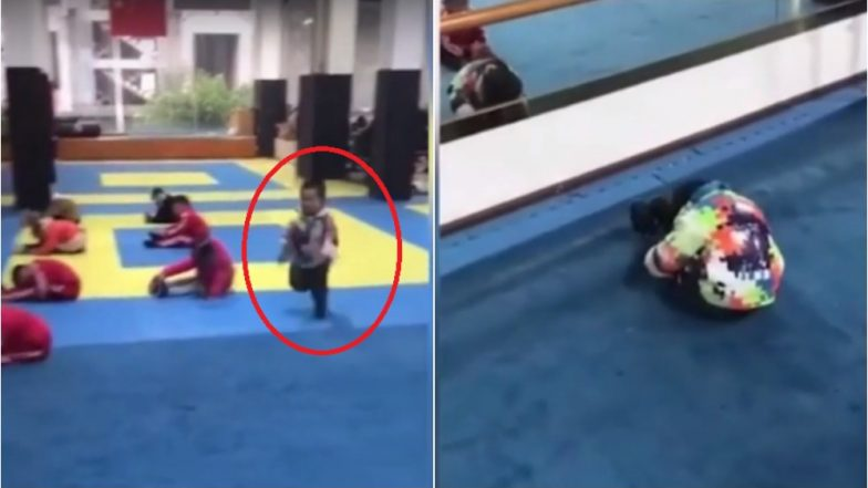 Little Chinese Boy Darting Into Yoga Class Late And Transforming into a Pose Leaves Social Media Laughing (Watch Video)