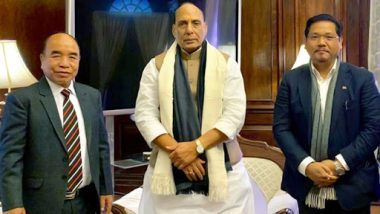 Citizenship (Amendment) Bill: Mizoram, Meghalaya CMs Meet Rajnath Singh, Demand Scrapping of Proposed Law