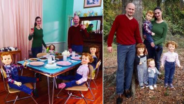 Couple Tired of Answering 'When Will You Have Kids' Start Posing With Dolls as Children, View Family Pics