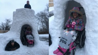 US Dad Builds Igloo For Disabled Daughter, Social Media Calls Him 'Best Dad'
