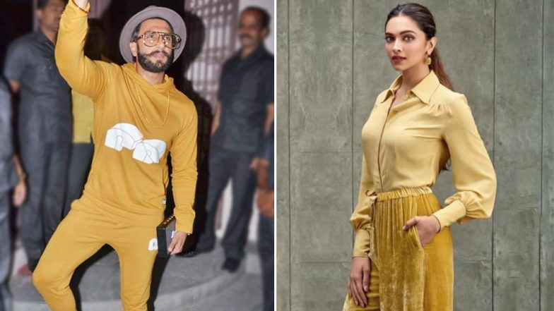 Deepika Padukone Apes Beau Ranveer Singh's Monochrome Look and All We Need to Say is 'Well Done'