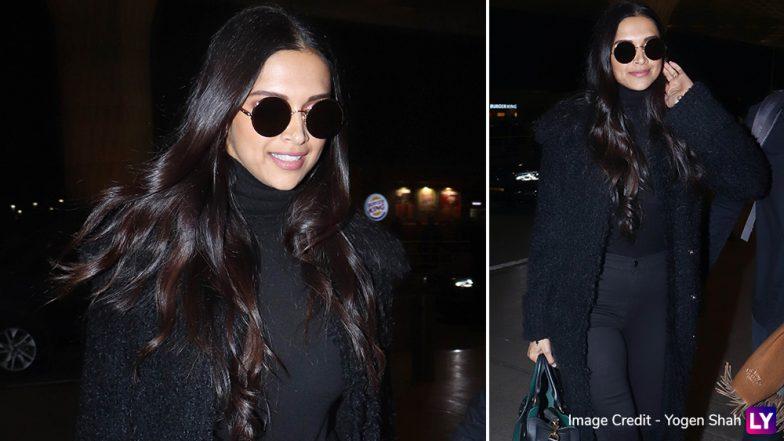 Deepika Padukone Nails her All Black Attire as She Jets Off to Dubai - View Pics