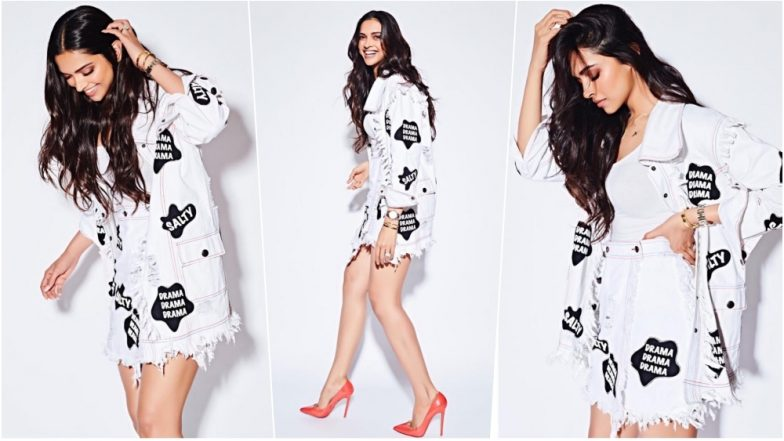Deepika Padukone in Quirky Kanika Goyal Denim Outfit and Christian Louboutin Pumps at Facebook Office is So Sexy and Chic (See Pics)