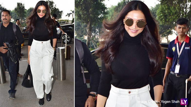 Deepika Padukone is Back With Her Signature 'Pap Face' But That Easy-Breezy Airport Look Steals Our Attention! (View Pics)
