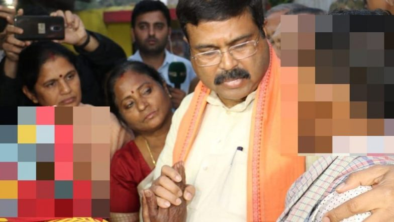 Pipili Rape Case: Dharmendra Pradhan Meets Victim's Family; Targets Naveen Patnaik's Govt for Injustice