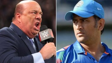 MS Dhoni is 'Amazing', Says Paul Heyman, Brock Lesnar's Manager Asks for Royalty From ICC For Using his Phrase