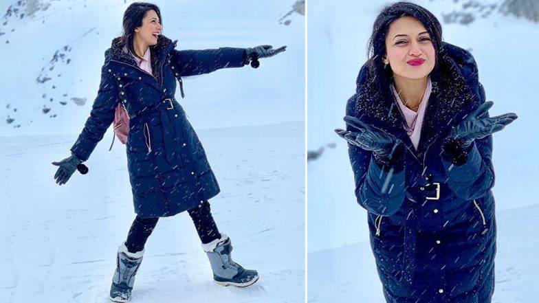 Divyanka Tripathi Looks Excited as a Kid in These Snowy Pictures Straight From Switzerland!