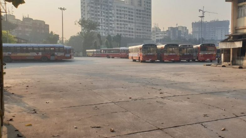 BEST Bus Strike in Mumbai Enters Seventh Day, Commuting Nightmare Continues as Red Buses Remain Off Roads