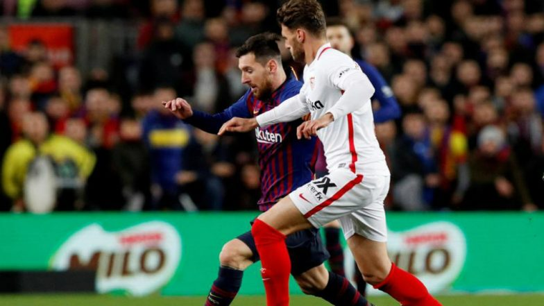 Lionel Messi Scores One of the Best Counter-Attacking Goals As Barcelona Beat Sevilla 6-1 Copa del Rey 2018-19