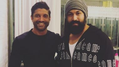 Did Farhan Akhtar and Yash Hint About KGF Chapter 2 Going on Floors? Check Out the Happy Picture of Actor-Producer Duo to Decide Yourself