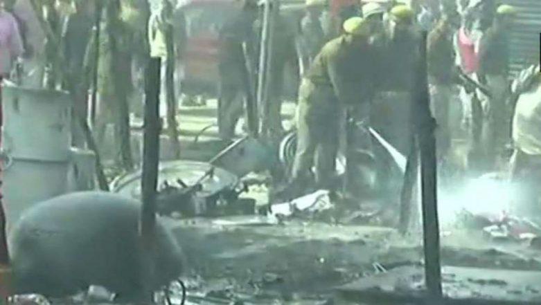 Kumbh Mela 2019: Fire Erupts at Kumbh Mela Complex in Prayagraj, Several Tents Gutted