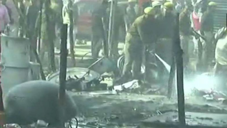 Kumbh Mela 2019: Fire Erupts at Kumbh Mela Complex in Prayagraj, Several Tents Gutted