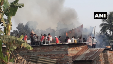 Fire Breaks Out in Bagracote Slums of West Bengal, Three Fire Tenders Rushed to Spot