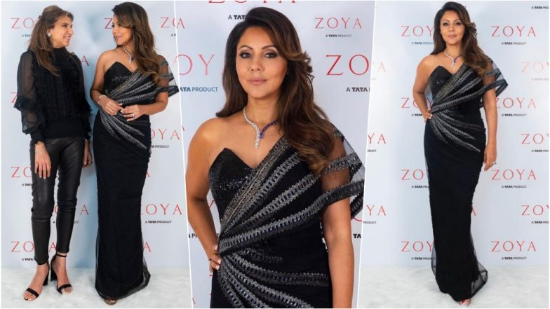 Gauri Khan Looks Incredible in One-Shoulder Monisha Jaising Evening Gown at Zoya Store Launch (See Pics)