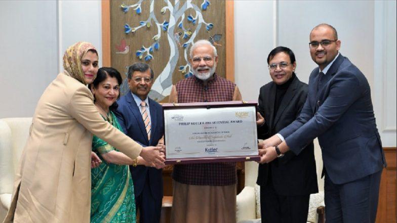 Prime Minister Narendra Modi Receives Philip Kotler Presidential Award for Outstanding Leadership
