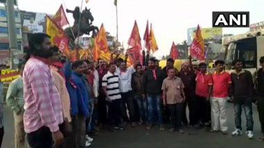 Nationwide Strike Called by Trade Unions Evokes Mixed Response in Karnataka