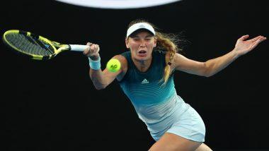 Australian Open 2019: Caroline Wozniacki Beats Johanna Larsson in Straight Sets