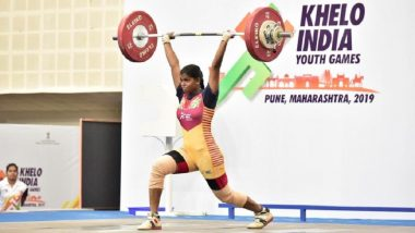 Khelo India Youth Games 2019: T Dharshini, S Rudra Mayan Impress With Dazzling Performances to Snap Gold in Weightlifting