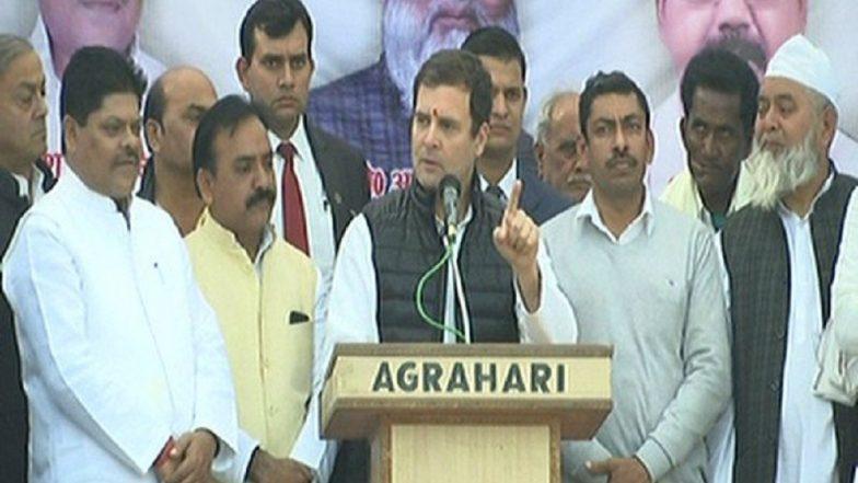 Lok Sabha Elections 2019: Rahul Gandhi Takes Dig at BJP Govt, Says 'Narendra Modi Is the Symbol of Hatred'