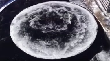 Aliens Here or The Moon is on Earth? Giant Spinning Ice Disc Seen in US' Maine River Sparks Theories (Watch Video)