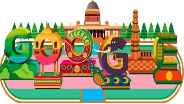India Republic Day 2019: Google Shares 'Colorful Celebrations and R-Day Parade Floats' to Mark India's 70th Republic Day as Doodle