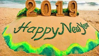Happy New Year 2019 Sand Arts Will Fill Your Heart With Joy! See Pictures of Amazing HNY Artwork