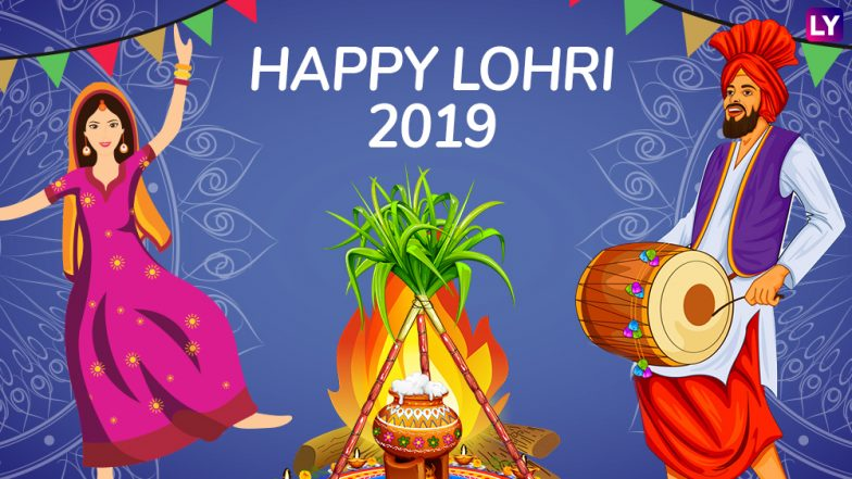 Happy Lohri 2019 Wishes: WhatsApp Stickers, Hike Messages, GIF Image Greetings, SMS, Facebook Quotes to Wish on Punjabi Harvest Festival