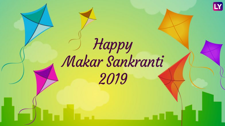 Makar Sankranti Images & HD Wallpapers for Free Download Online: Wish Happy Makar Sankranti 2019 With Beautiful GIF Greetings & WhatsApp Sticker Messages
