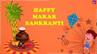 Makar Sankranti 2019 WhatsApp Stickers & Messages in Hindi: Picture Greetings, SMS, GIF Images, Facebook Photos to Wish Happy Makar Sankranti!