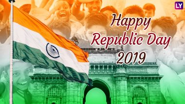 Happy India Republic Day 2019 Wishes & Photos: Best WhatsApp Stickers, Patriotic Facebook Quotes, Tiranga Wallpapers, GIF Image Messages, Greetings in Hindi to Wish on 70th Republic Day
