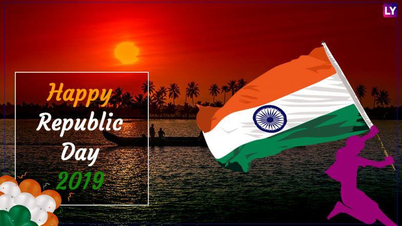 Happy Republic Day 2019 Wishes: WhatsApp & Hike Stickers, Patriotic GIF Image Messages, SMS, Facebook Greetings to Send on 26th January
