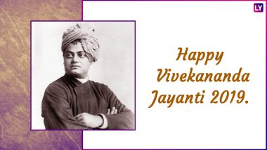 Swami Vivekananda Jayanti Greetings 2019 Wishes: Best WhatsApp Stickers, Messages, GIF Image Greetings to Send Across on 156th Birth Anniversary of Great Influencer