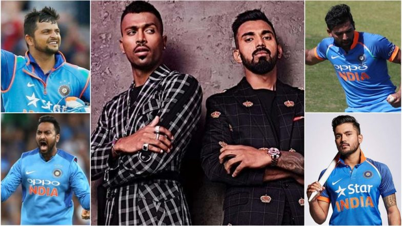 Hardik Pandya and KL Rahul May Be Suspended Over KWK 6 Controversy: 5 Players Who Can Replace the Tainted Duo in IND vs AUS ODI Series 2019