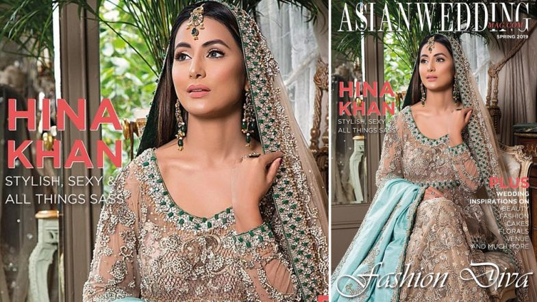 Hina Khan Looks Resplendent in Tehxeeb London's Bridal Couture for Asian Wedding Mag's Spring 2019 Issue (See Pic)