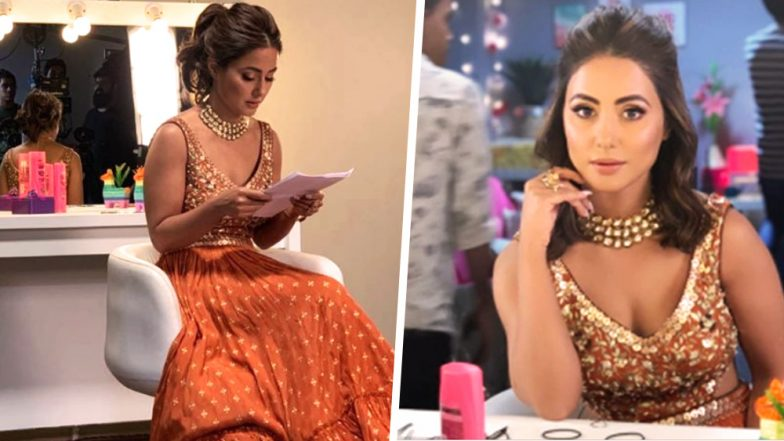 Hina Khan Slips Into An Orange Lehenga To Have Polarised Opinions: Classy or Tacky?