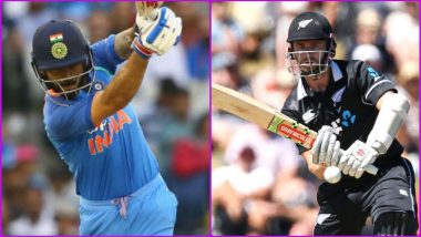 IND 156/2 in 34.5 Overs (Target 156) | India vs New Zealand 1st ODI 2019 Highlights: Kuldeep Yadav, Shikhar Dhawan Shine as IND Win by 8 Wickets