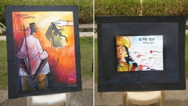'Derogatory' Paintings of Bharat Mata, RSS, PM Modi at Chennai's Loyola College; BJP Calls Them Anti-Hindu