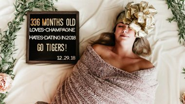 Hilarious Swaddle Photoshoot of a 336 Months Old Woman Is Taking the Internet by Storm