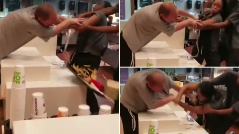 Florida Man Attacked a McDonald's Employee for Not Getting a Plastic Straw, Gets Arrested (Watch Viral Video)