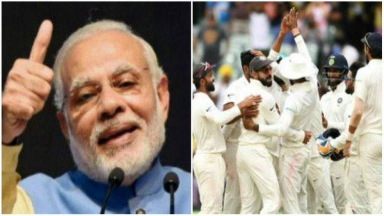 India vs Australia 2018-19 Series: Narendra Modi Congratulates Indian Cricket Team on Historic Win
