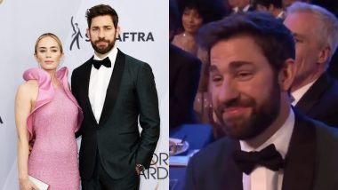 John Krasinski Legit Had Tears Of Joy As Wife Emily Blunt Won Best Supporting Actress For 'A Quiet Place' At The SAG Awards 2019 - Watch The Cute Video!
