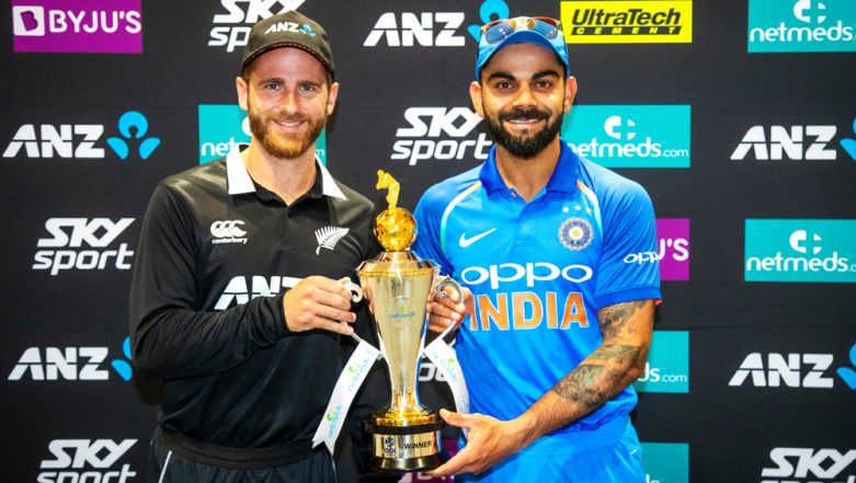 Live Cricket Streaming of India vs New Zealand ODI Series 2019 on Hotstar: Check Live Cricket Score, Watch Free Telecast Details of IND vs NZ 1st ODI Match on TV & Online