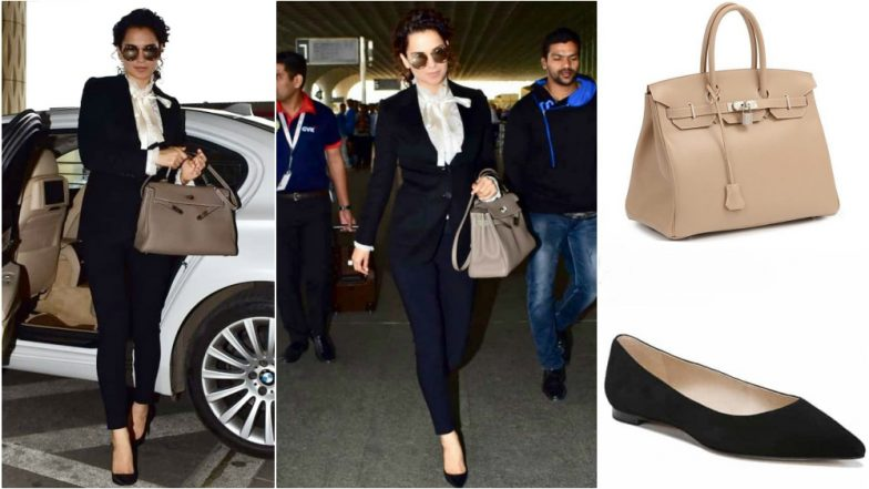 Kangana Ranaut Latest Airport Look Includes Dolce & Gabbana, Stella McCartney, Burberry & Hermès! That's One 'Power & Poise' OOTD