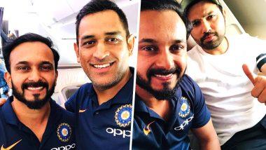 Kedar Jadhav Shares Selfies With Rohit Sharma and MS Dhoni Ahead of India vs Australia ODI Series 2019: View Pictures