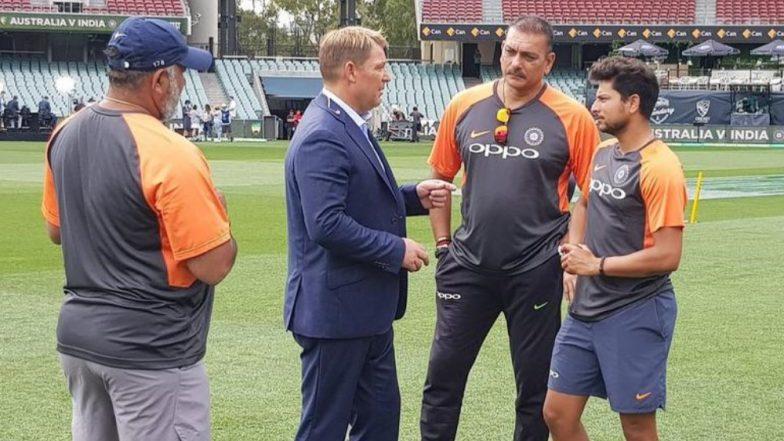 Shane Warne Offers Tips to Kuldeep Yadav Ahead of Day 3 of Sydney Test; Chinaman Bowler Snaps Three Wickets!