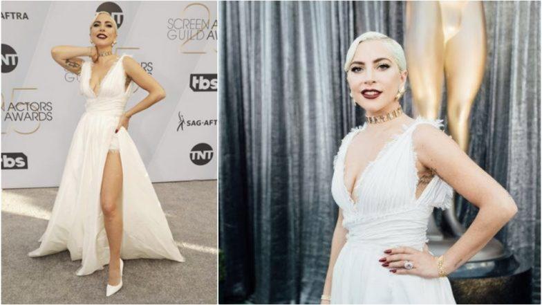 a51e2365260 SAG Awards 2019  Lady Gaga Stuns in Dior and Tiffany at the Red Carpet Watch