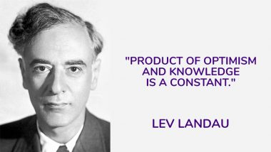 Lev Landau's 111th Birth Anniversary: Top 6 Quotes by the Soviet Physicist on Science and Life