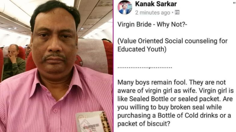 Misogynistic Professor From Kolkata's Jadavpur University Puts Up Virgin-Shaming, Sexist Posts on FB, Compares Women's Virginity With Cold Drink's Broken Seal
