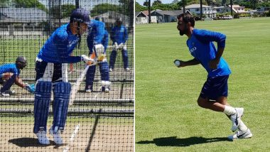 MS Dhoni, Mohammed Shami & Others Practise Hard at Training Session Ahead of IND vs NZ, 1st ODI 2019 in Napier: View Pictures