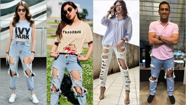 e4148580bd3 MS Dhoni Rocks Ripped Jeans Style! Is Anushka Sharma s His Fashion  Inspiration  (See